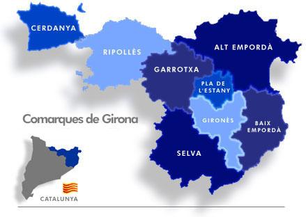 girona geografia: